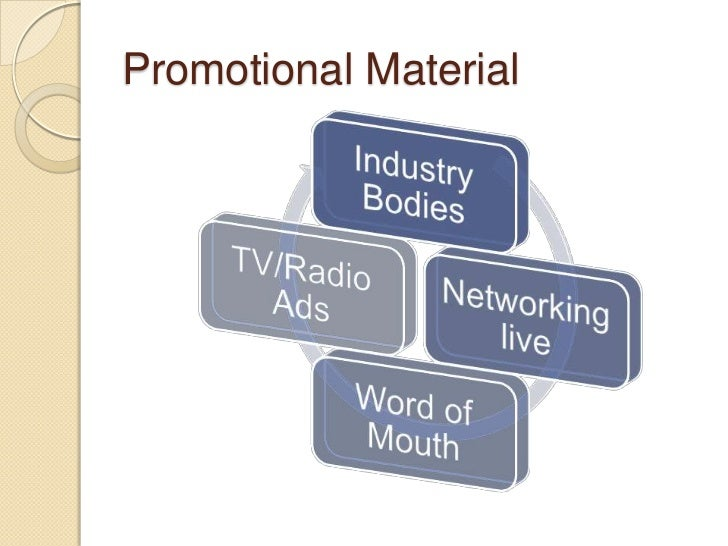 Promotional marketing materials discussion for Custom marketing materials