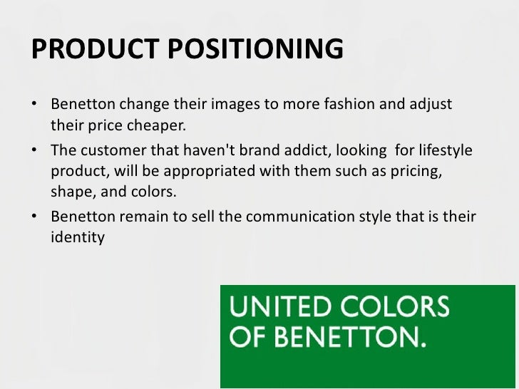 segmentation benetton The zaras brand strategy marketing essay print reference this apa the segmentation strategy employed by the fashion retailer zara is based one the typical.