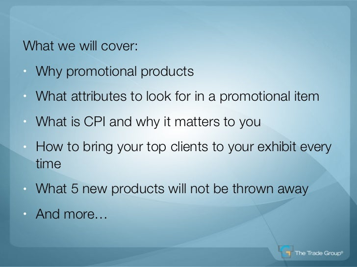 Boosting Trade Show Results Using Giveaways Slide 3