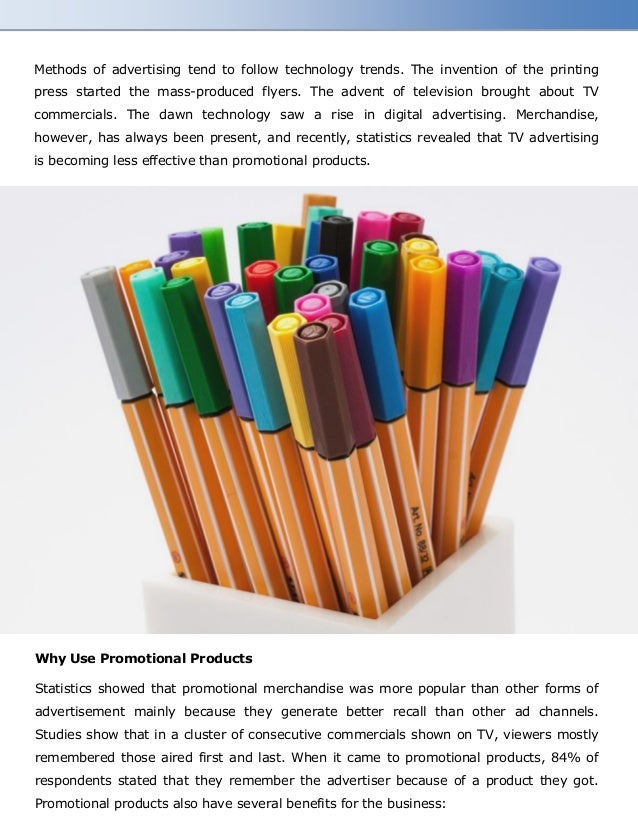 Promotional Products Overtake TV Adverts in Terms of Success