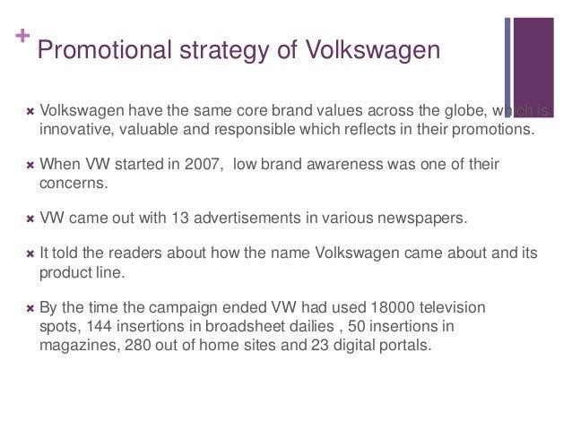 Volkswagen India Promotion & Distribution Marketing