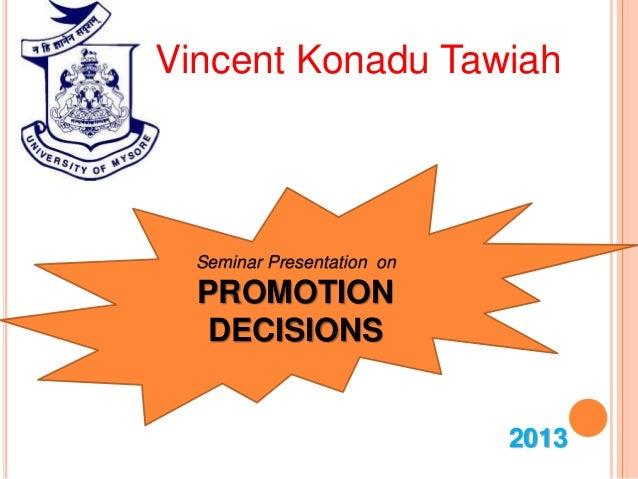 promotion decision ppt