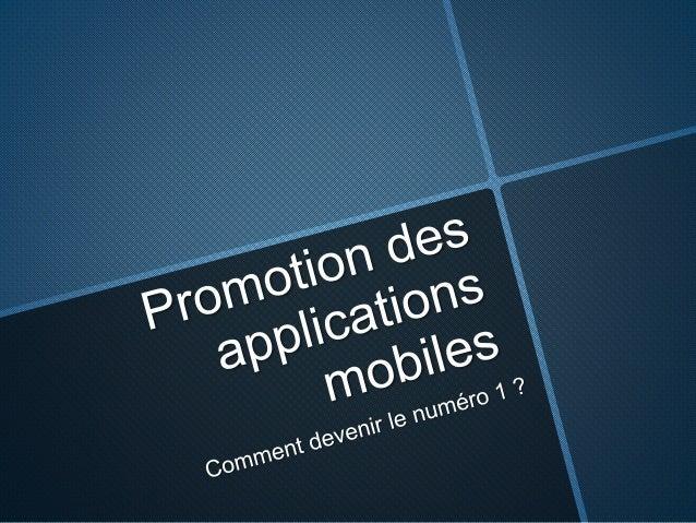 Promotion des applications mobiles