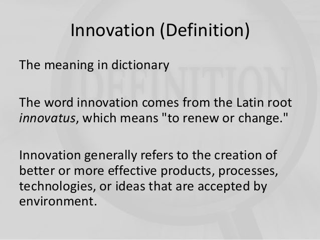 Foster Innovation Meaning