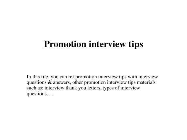 Interview For Promotion  BesikEightyCo