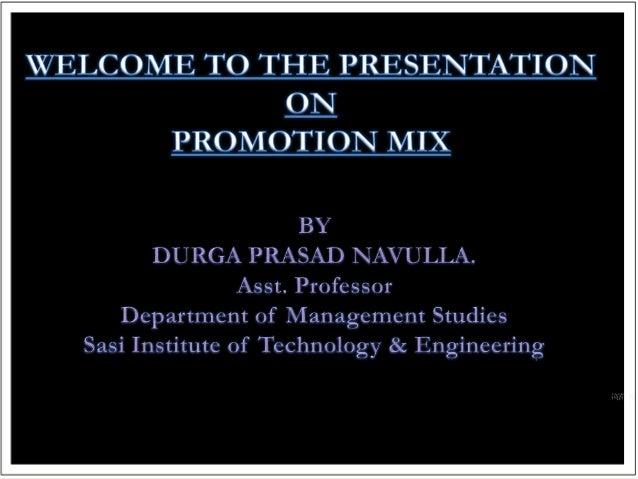 promotional mix elements