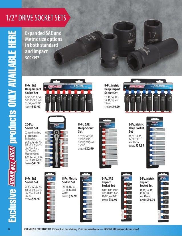 Do it Best 1//4 Drive Deep Socket 7//16 DEEP SOCKET 7//16 DEEP SOCKET Channellock Products 397946