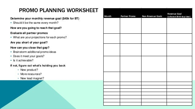 Collection of Promotion Worksheet - Adriaticatoursrl