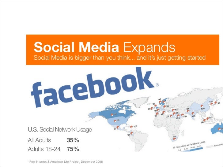 Social Media Expands     Social Media is bigger than you think... and it's just getting started     U.S. Social Network Us...