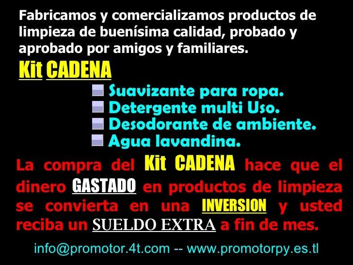 Fabricamos y comercializamos productos de limpieza de buenísima calidad, probado y aprobado por amigos y familiares.   <ul...