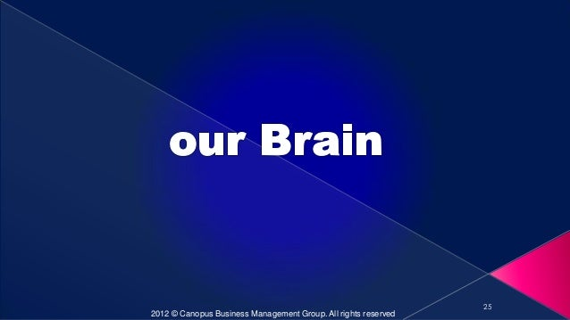 25 2012 © Canopus Business Management Group. All rights reserved