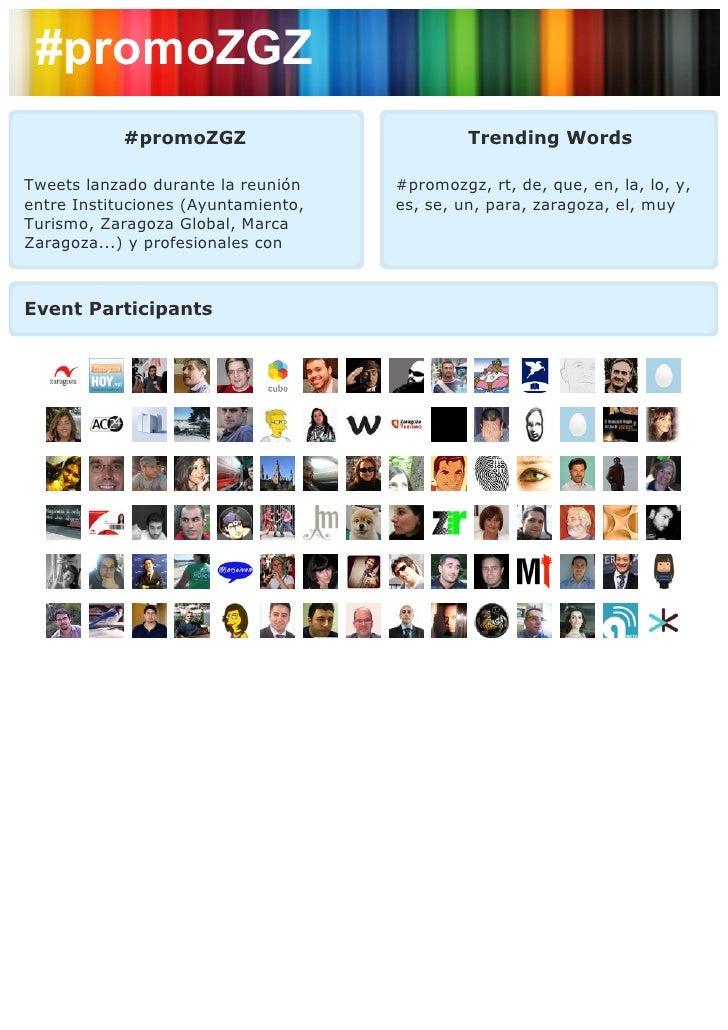 #promoZGZ            #promoZGZ                         Trending WordsTweets lanzado durante la reunión    #promozgz, rt, d...
