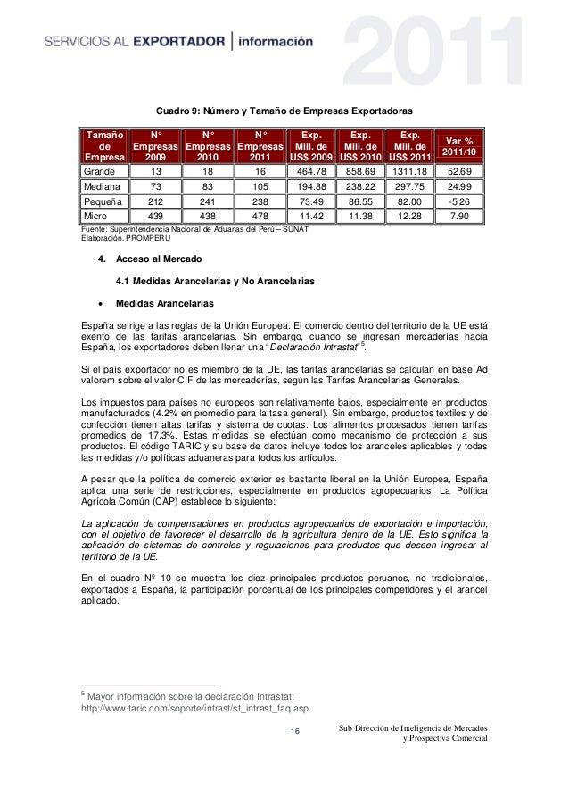 PROMPERU - guia de mercado España