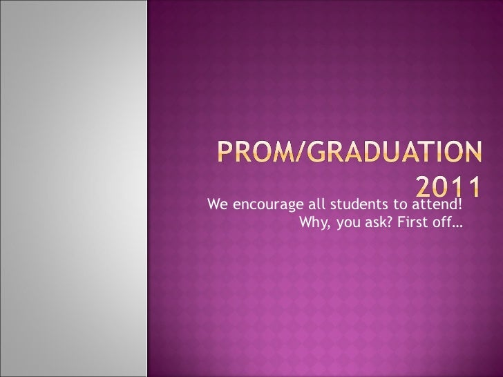 We encourage all students to attend! Why, you ask? First off…
