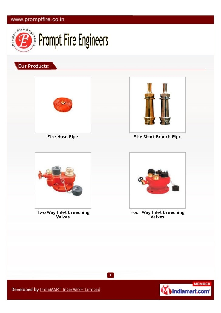 Our Products:            Fire Hose Pipe        Fire Short Branch Pipe       Two Way Inlet Breeching   Four Way Inlet Breec...