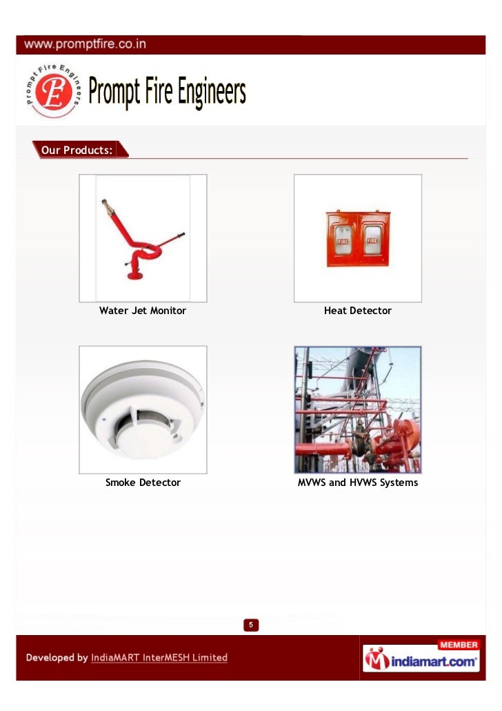 Our Products:          Water Jet Monitor       Heat Detector           Smoke Detector     MVWS and HVWS Systems