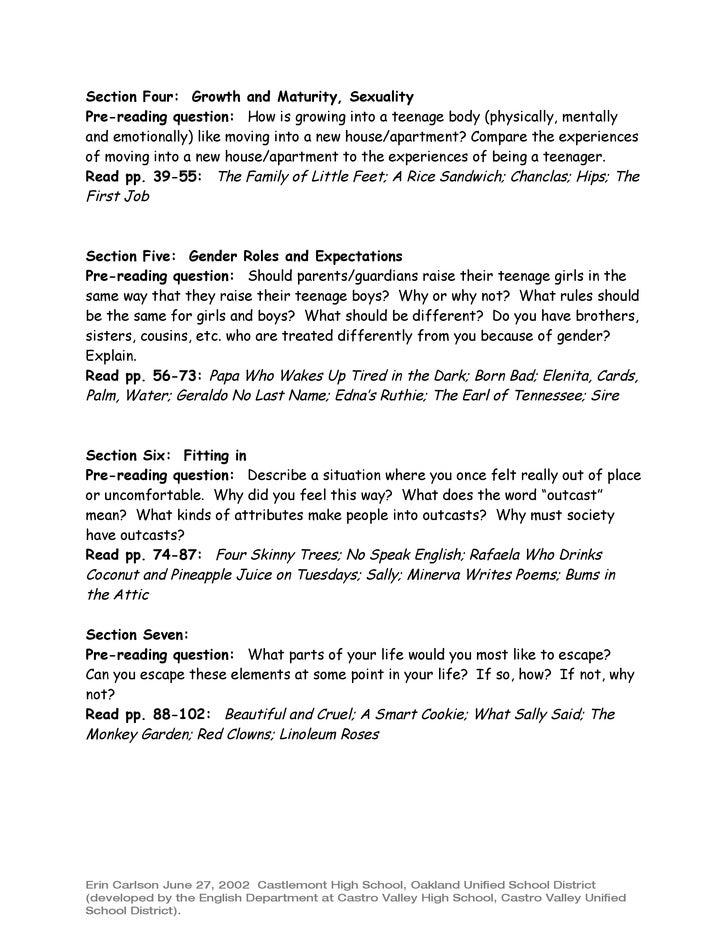 vignette writing assignment topics