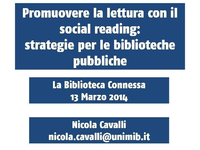 Promuovere la lettura con il social reading