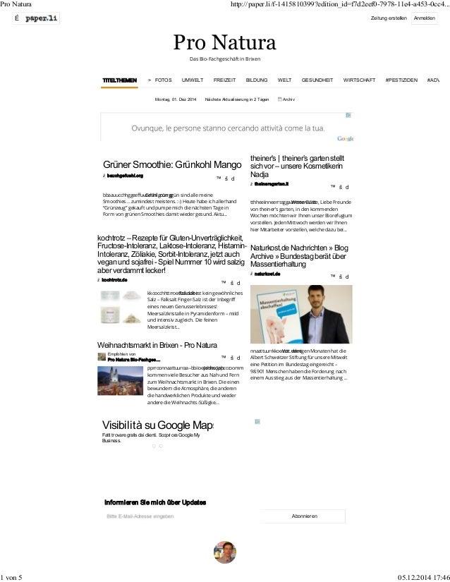 Pro Natura http://paper.li/f-1415810399?edition_id=f7d2eef0-7978-11e4-a453-0cc4...  É Zeitung erstellen Anmelden  Pro Natu...