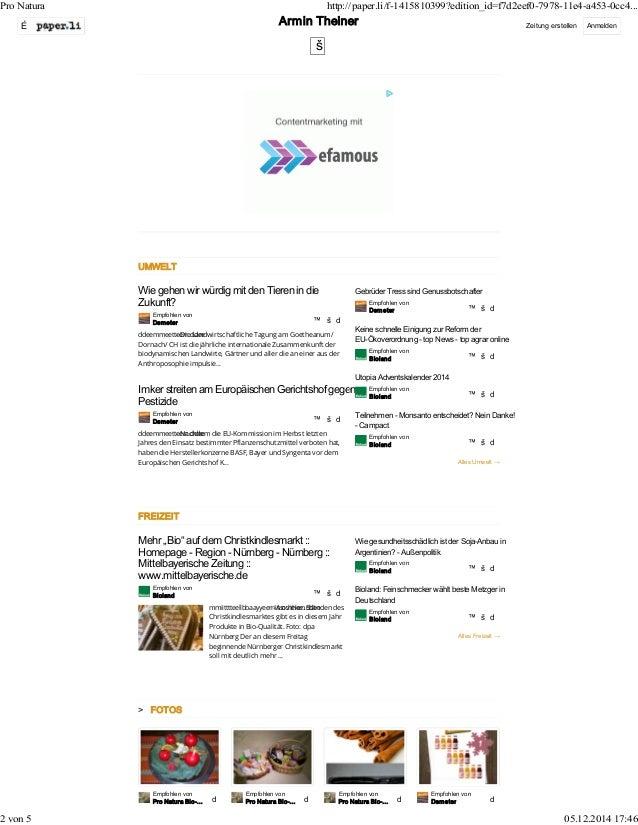 Pro Natura http://paper.li/f-1415810399?edition_id=f7d2eef0-7978-11e4-a453-0cc4...  É Zeitung erstellen Anmelden  UMWELT  ...