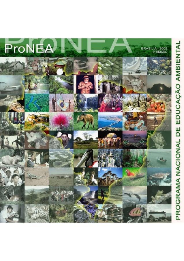 PROGRAMA NACIONAL DE EDUCAÇÃO AMBIENTAL - ProNEA   64