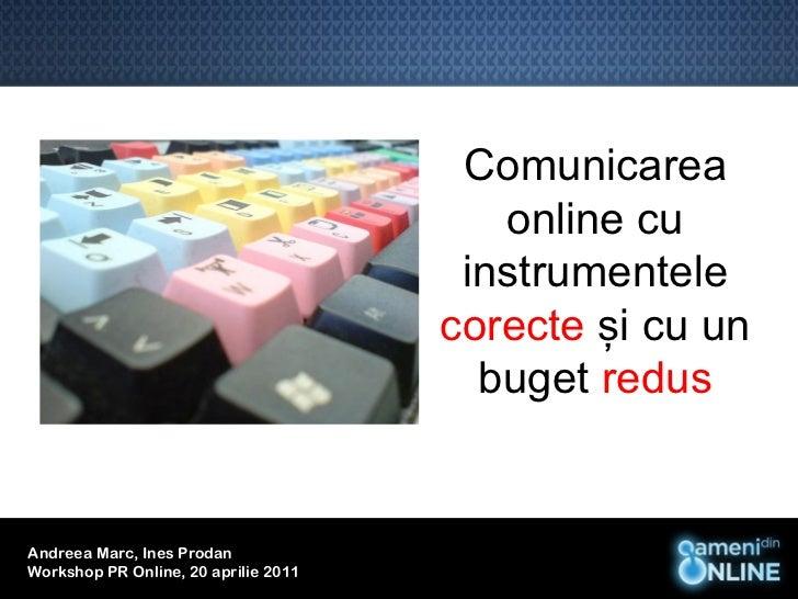 Comunicarea                                         online cu                                       instrumentele         ...