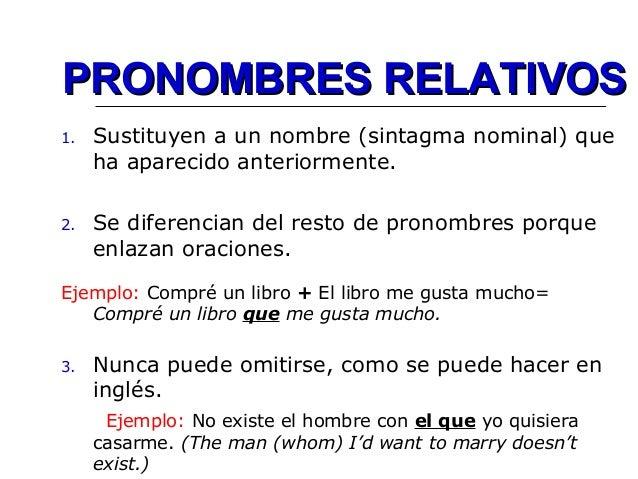 Resultado de imagen para pronombres relativos