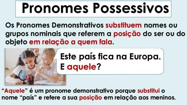 Pronomes demonstrativos vs Determinantes Demonstrativos Slide 2