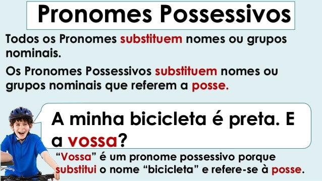 Pronomes possessivos Slide 2