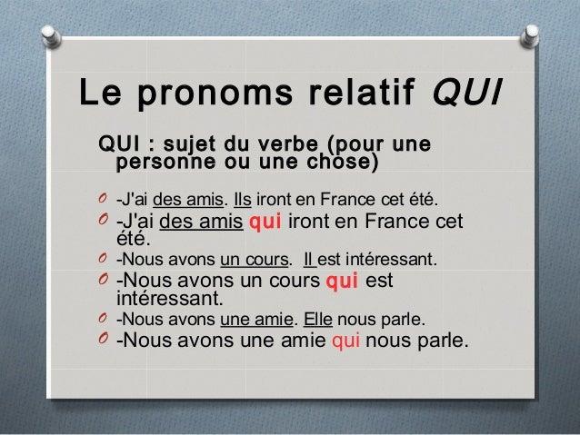 Zaimki względne proste - zaimek QUI 2 - Francuski przy kawie
