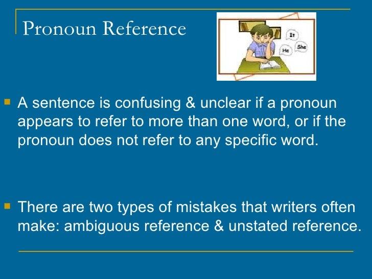Pronoun Agreement Amp Reference