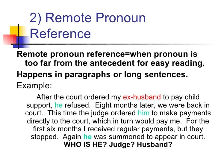an introduction to vague pronoun references Quiz #4 -- pronoun reference - vague pronoun reference-rewrite sentence correctly question 1 (1 point) online classes have become more and more popular in the last decade, and this has introduced new dynamics to higher education.