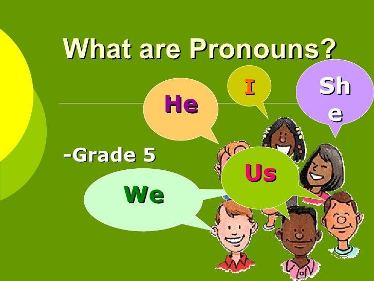 What are Pronouns?  -Grade 5 I He She We We Us