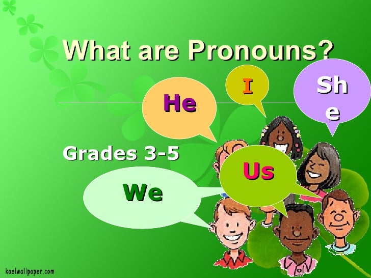 What are Pronouns?  Grades 3-5 I He She We We Us