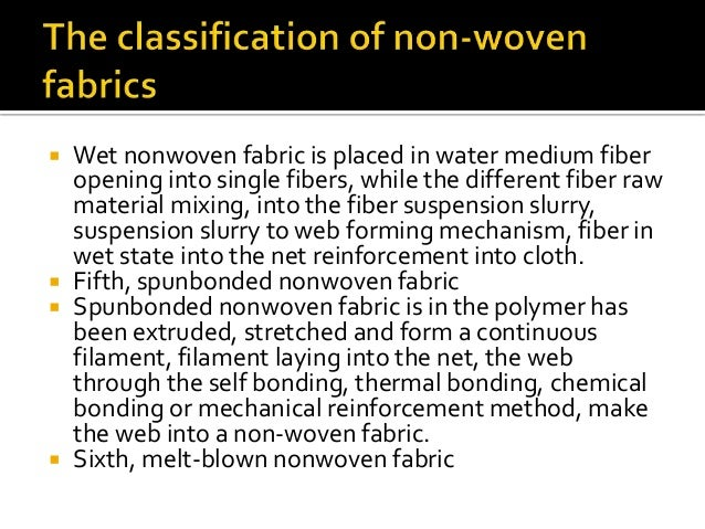 Uses of Non-Woven textile