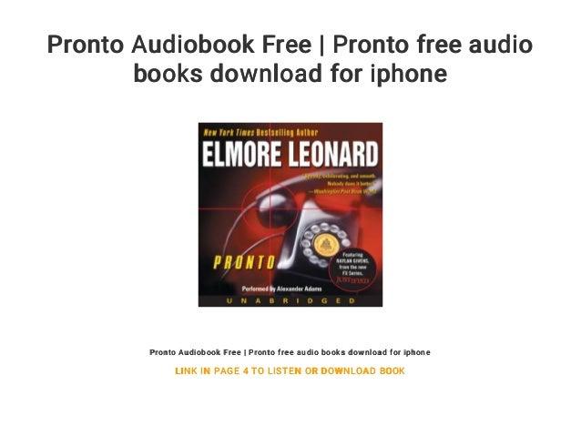 Pronto Audiobook Free   Pronto free audio books download for