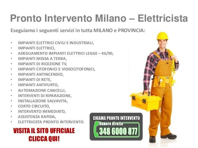 Pronto intervento Milano Elettricista, Fabbro, Idraulico