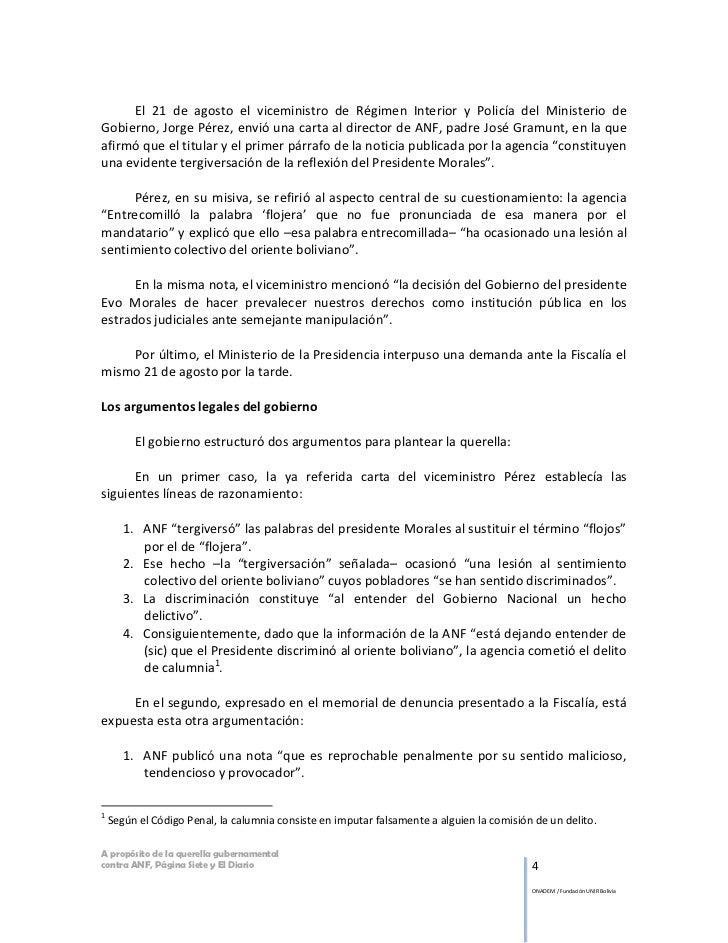 El 21 de agosto el viceministro de Régimen Interior y Policía del Ministerio deGobierno, Jorge Pérez, envió una carta al d...