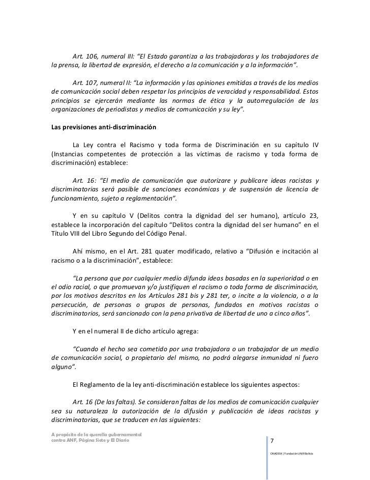 """Art. 106, numeral III: """"El Estado garantiza a las trabajadoras y los trabajadores dela prensa, la libertad de expresión, e..."""