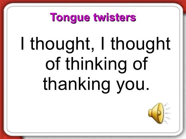 TH Pronunciation