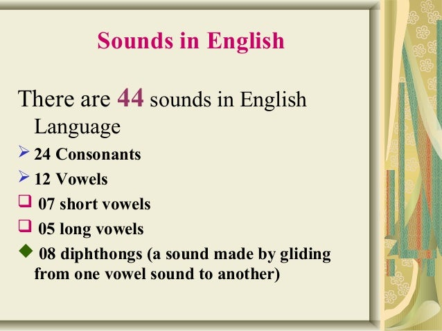 sounds in english language pdf