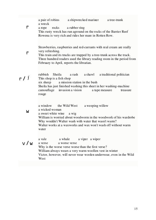 Pronunciation Exercises 01