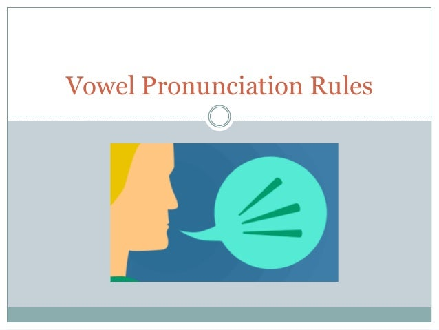 english vowel pronunciation rules pdf
