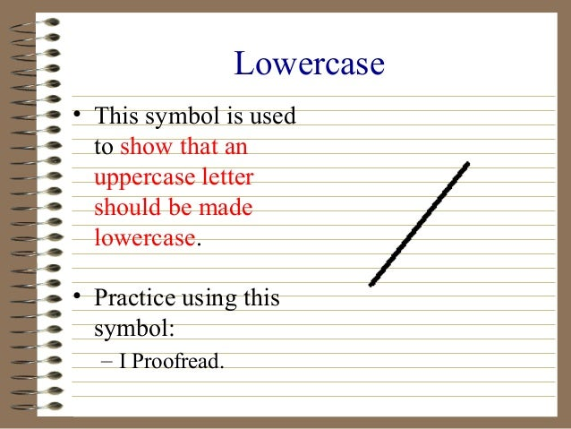 Proofreading And Editing Symbols