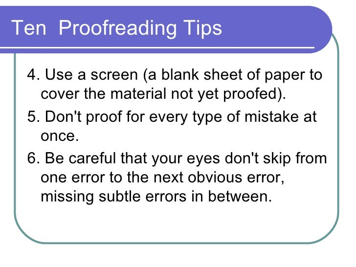 what is the definition of proofreading