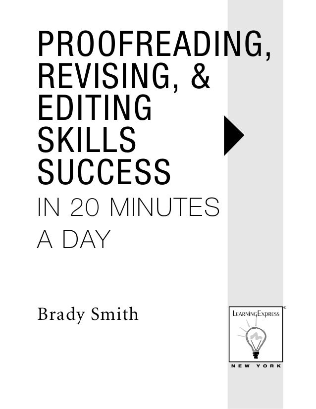 Proofreading Revising Editing Skills Success In 20 Minutes A Day