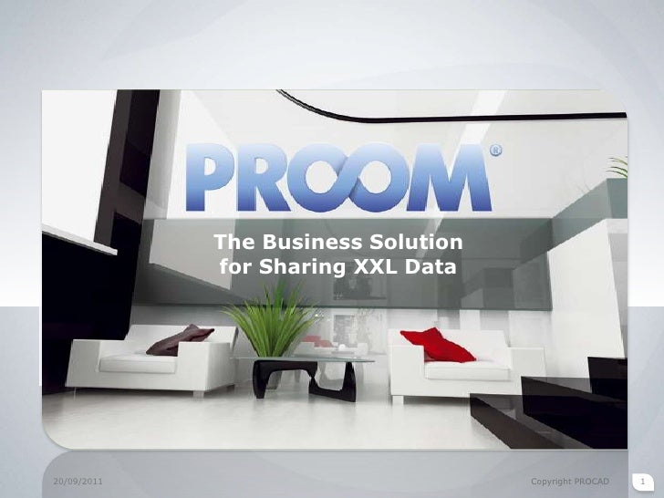 20/09/2011<br />Copyright PROCAD<br />1<br />The Business Solution for Sharing XXL Data<br />
