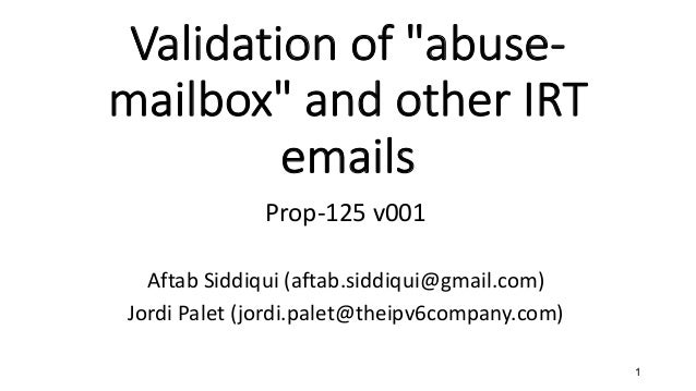 Validating mailboxes and posts