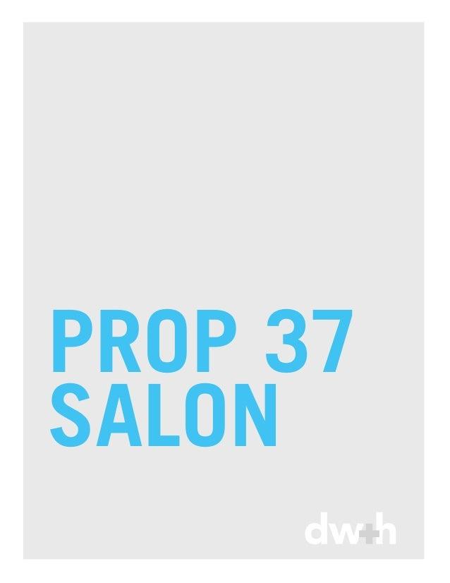 PROP 37SALON