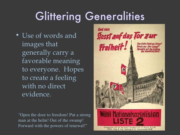 Glittering Generalities Propaganda Examples Obama
